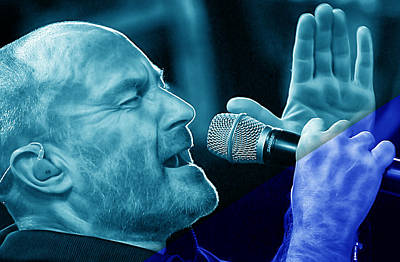 Celebrities Art Mixed Media - Phil Collins Collection by Marvin Blaine
