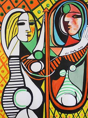 Painting - Picasso By Nora by Nora Shepley
