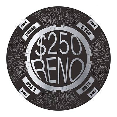 Poker Chip Art Print