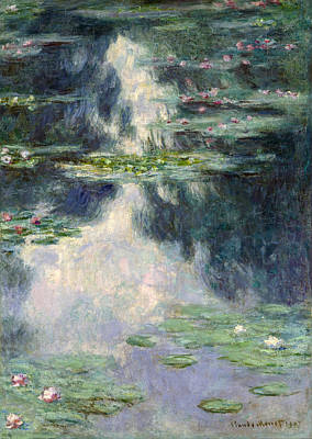 France Painting - Pond With Water Lilies by Claude Monet