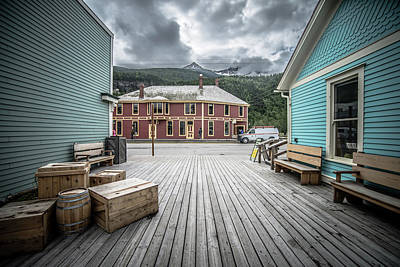Maps Maps And More Maps - Port Of Skagway Alaska Near White Pass British Columbia Canada by Alex Grichenko