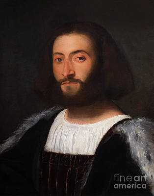 Painting - Portrait Of A Man by Titian
