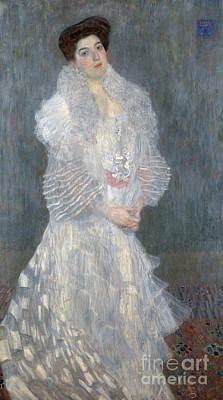 Painting - Portrait Of Hermine Gallia by Gustav Klimt
