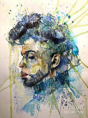 Bracelet Painting - Prince Rogers Nelson Portrait by Suzann's Art