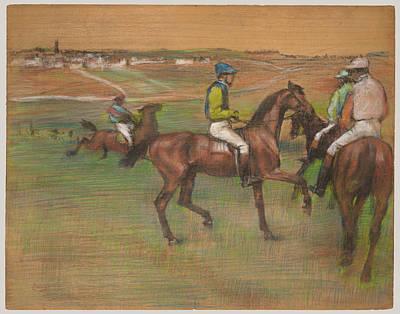 Race Horse Painting - Race Horses by Edgar Degas