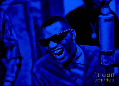 Music Mixed Media - Ray Charles Collection by Marvin Blaine