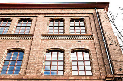 Red Brick Building Art Print by Tom Gowanlock