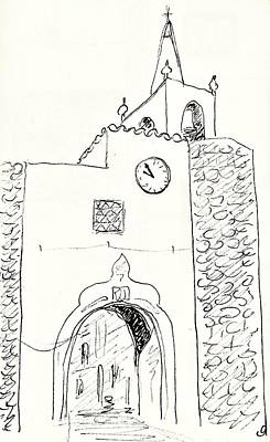 Drawing - Town Gate In Redondo by Chani Demuijlder