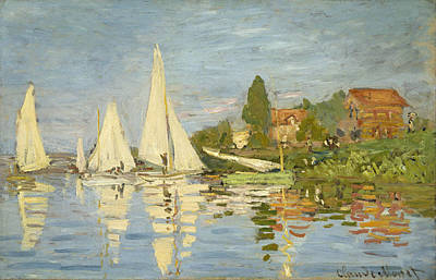 Boating Painting - Regattas At Argenteuil by Claude Monet