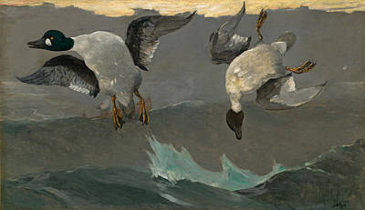 Winslow Homer Painting - Right And Left by Winslow Homer