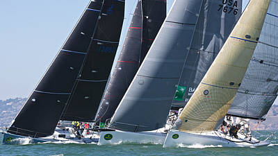 Photograph - Rolex Big Boat Series Start by Steven Lapkin