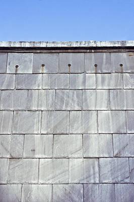 Slate Pattern Photograph - Roof Tiles by Tom Gowanlock