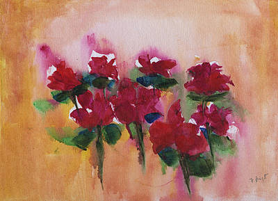 Painting - 8 Roses Abstract by Frank Bright