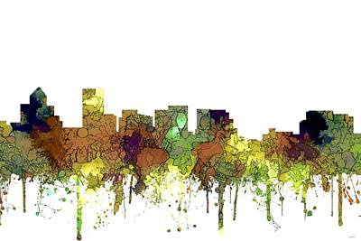 Digital Art - Salem Oregon Skyline by Marlene Watson