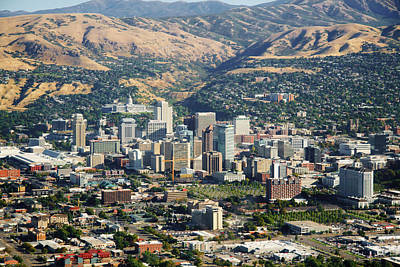 Photograph - Salt Lake City Utah Usa by Douglas Pulsipher