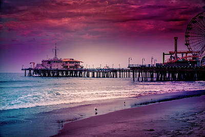 Rollercoaster Photograph - Santa Monica Pier Collection-12/36 by Gene Parks