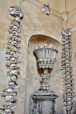 Sedlec Ossuary. Cemetery Church Of All Saints With The Ossuary. Czech Republic. Art Print by Andy Za