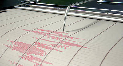Seismograph Earthquake Activity Art Print