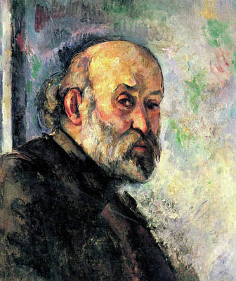 Self Portrait Painting - Self-portrait by Paul Cezanne