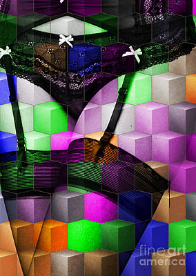 Panties Digital Art - Sexy Pop Art By Mb by Mary Bassett