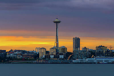 Photograph - Space Needle by Evgeny Vasenev