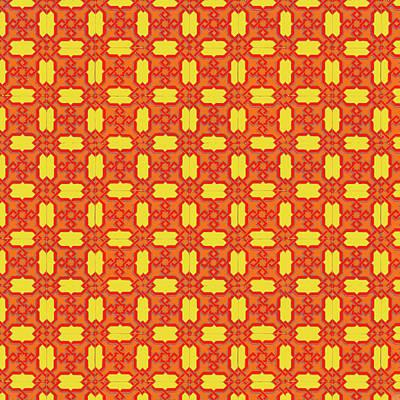 Painting - Spanish Geometric Azulejo by Andrea Mazzocchetti