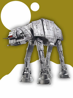 Science Fiction Art Mixed Media - Star Wars At-at Collection by Marvin Blaine