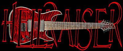 8 String Guitar-schecter Hellraiser Art Print by Brian Yasumura Jr