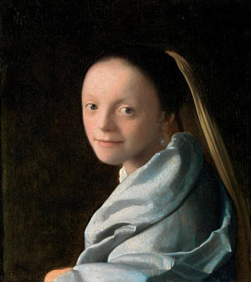 Johannes Vermeer Wall Art - Painting - Study Of A Young Woman by Johannes Vermeer
