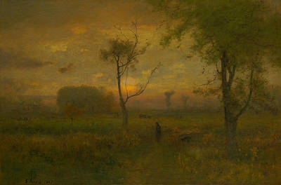 Painting - Sunrise by George Inness
