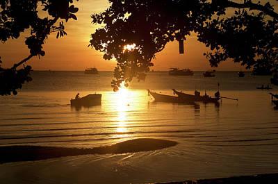 Sunrise On Koh Tao Island In Thailand Art Print