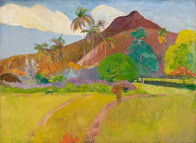 Painting - Tahitian Landscape by Paul Gauguin