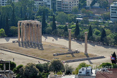 Zeus Photograph - Temple Of Olympian Zeus by George Atsametakis