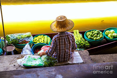 Photograph - Thailand's Floating Market by Rene Triay Photography