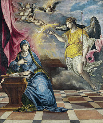 The Annunciation Art Print by El Greco