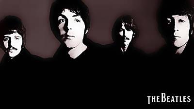 Beatles Digital Art - The Beatles by Marvin Blaine