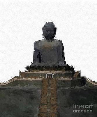 Thoth Painting - The Buddha, Pop Art By Mary Bassett by Mary Bassett