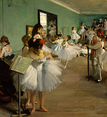 Degas Painting - The Dance Class by Edgar Degas