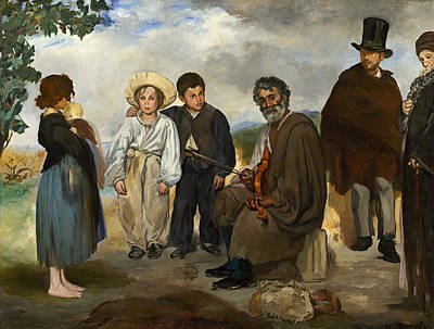 Violine Painting - The Old Musician by Edouard Manet