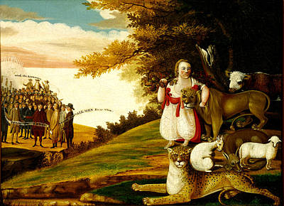 Peaceable Painting - The Peaceable Kingdom by Edward Hicks