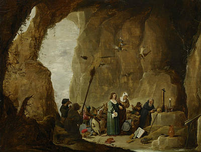 Photograph - The Temptation Of St. Anthony by David Teniers the Younger