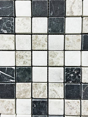 Mosaic Photograph - Tiles Background by Tom Gowanlock