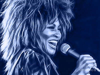 Celebrities Mixed Media - Tina Turner Collection by Marvin Blaine