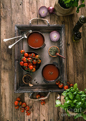 Stewed Tomatoes Photograph - Tomato Soup by Mythja Photography