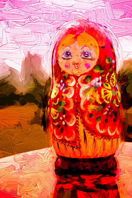 Photograph - Sunny Russian Matrushka Nesting Puzzle Doll by John Williams