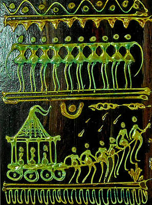 Indian Tribal Art Painting - Tribal by Nandini Arts