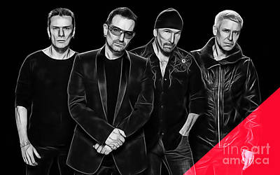 Bono Mixed Media - U2 Collection by Marvin Blaine