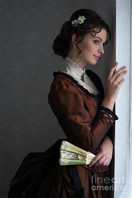 Photograph - Victorian Woman At The Window by Lee Avison