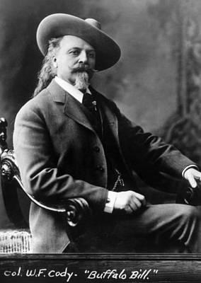 Jt History Photograph - William F. Cody Aka Buffalo Bill Cody by Everett
