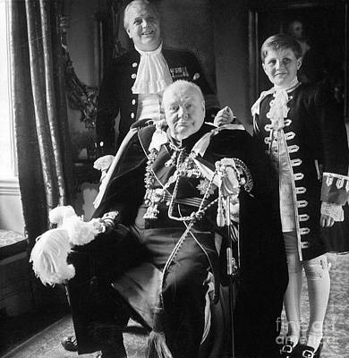 Winston Churchill Art Print by Granger